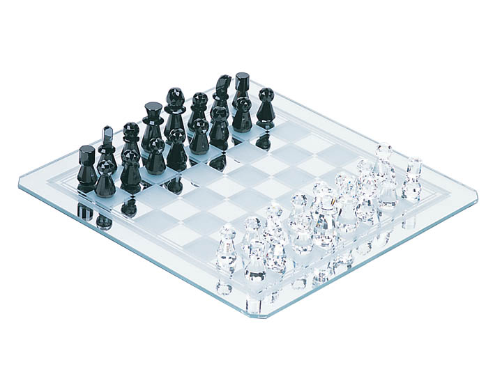 Wholesale Lot 4 Pc Case Of Luxury Crystal Chess Sets
