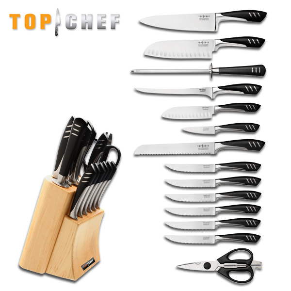 wholesale lot 2 sets top chef professional 15 piece knives stainless kitchen set ebay. Black Bedroom Furniture Sets. Home Design Ideas